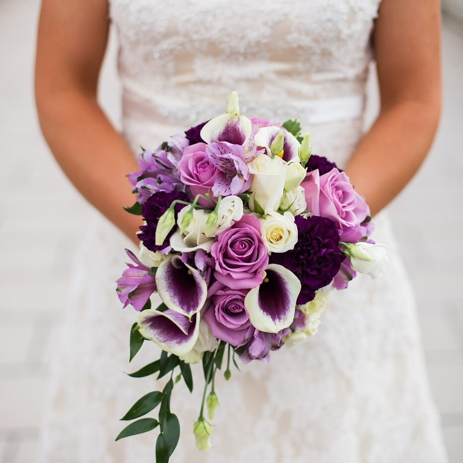 Bride with floral