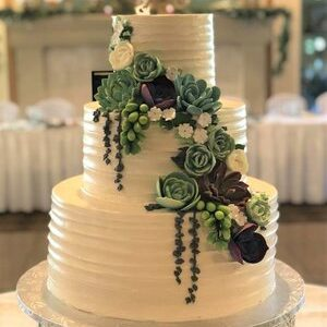 wedding+cake+succulents